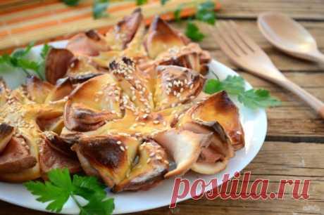Колбасные цветочки — Кулинарная книга - рецепты с фото
