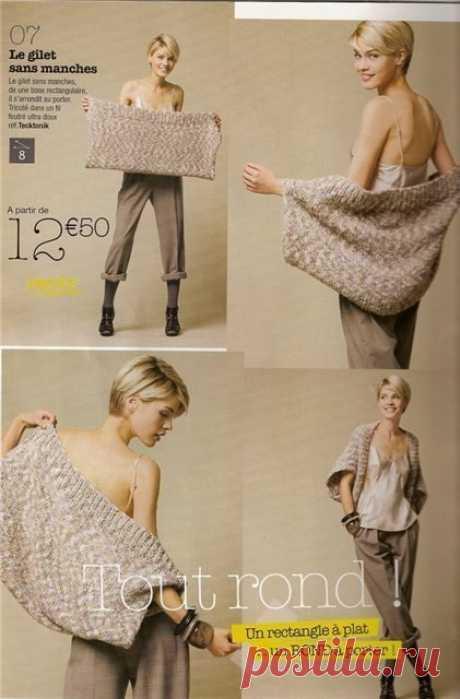 Вязаная накидка (Diy) Модная одежда и дизайн интерьера своими руками