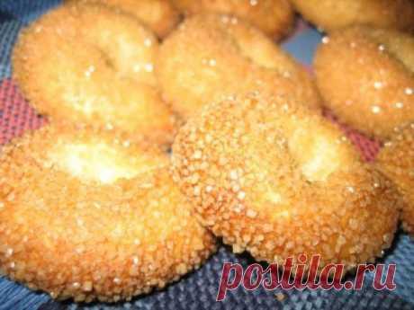 Итальянское сахарное печенье  Ингредиенты:  ● 125 грамм маргарина (или сливочного масла) Показать полностью…