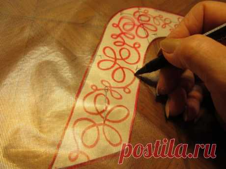 We master an embroidery on the simple sewing machine - the Fair of Masters - handwork, handmade