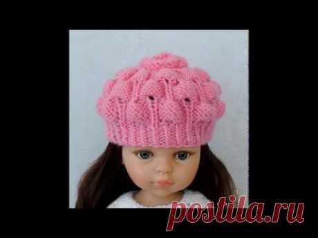Коллекция вязаных шапочек  на кукол Paola Reina