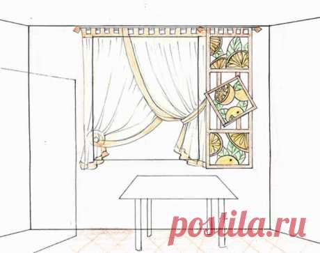How to sew curtains on kitchen the hands — a master class