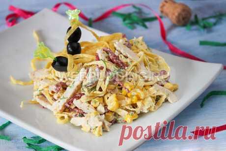 Салат с яичными блинчиками | Webpudding.ru