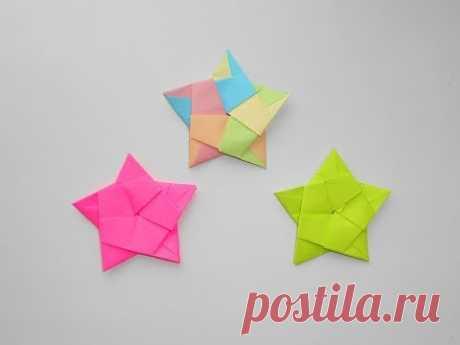 Модульная звезда из бумаги. Оригами поделка к 23 февраля, 9 мая