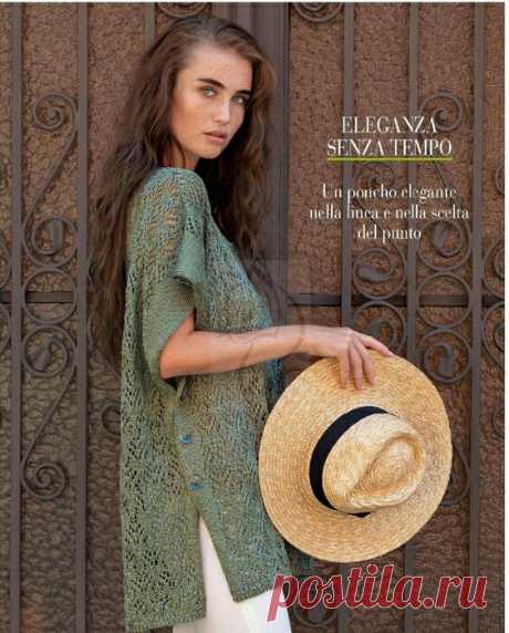 Летняя накидка спицами DIY Модная одежда и дизайн интерьера своими руками