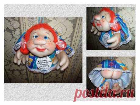 Часть 1 Начало изготовления куклы в скульптурно-текстильной технике (чулочная техника)