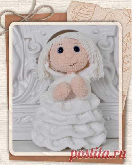 Кукла своими руками, идея для подарка, вязание крючком