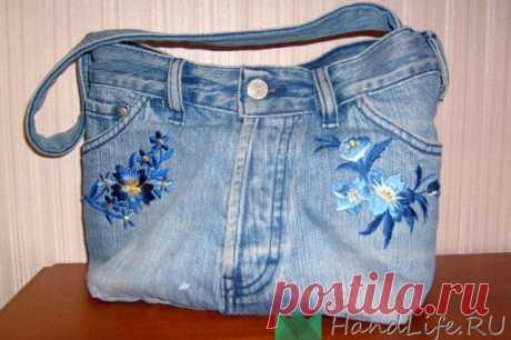 Сумки из старых джинсов (видео) / Деним или куда девать старые джинсы?
