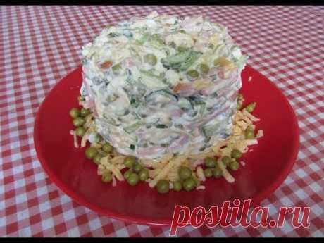 Салат на скорую руку (+ВИДЕО) - Затейка.com.ua - рецепты вкусных десертов, уроки вязания схемы, народное прикладное творчество