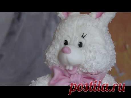 "La torta infantil ""Зайка моя"" Children's cake ""my bunny"""