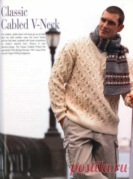 El pulóver de hombre.