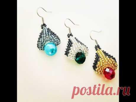 Peyote Beaded Earrings..DIY beaded earrings