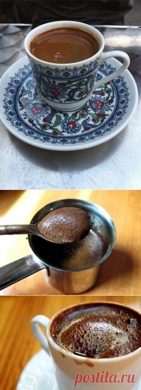 Как приготовить вкусный кофе по-восточному (по турецки) - рецепт, ингридиенты и фотографии