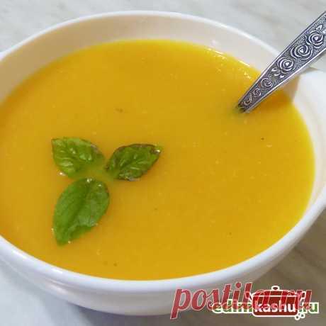 Тыквенный суп-пюре с чечевицей. Вкусный, полезный, согревающий суп-пюре с тыквой. Подходит для постного и веганского меню.