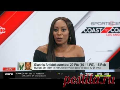 Chiney Ogwumike STUNNED by Giannis: 29 Pts, 15 Reb with Bucks: 5th team in NBA | ESPN SC