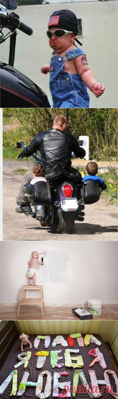 Los chiquitines y sus papás. (Mientras las mamás no existen la casa)