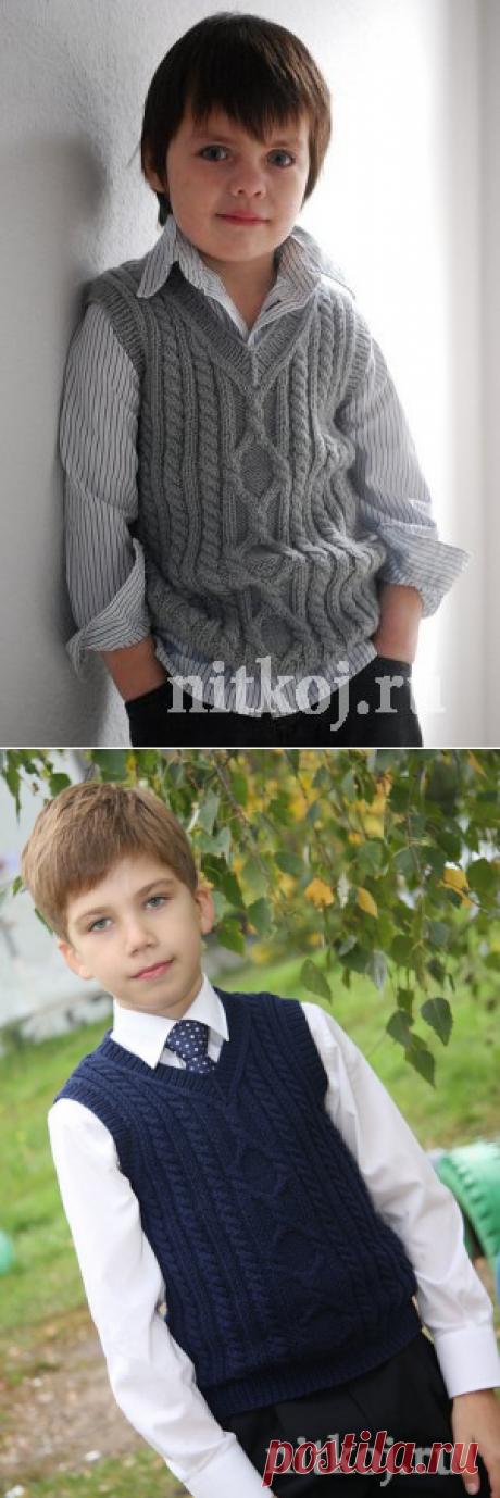 Безрукавка мальчику спицами » Ниткой - вязаные вещи для вашего дома, вязание крючком, вязание спицами, схемы вязания