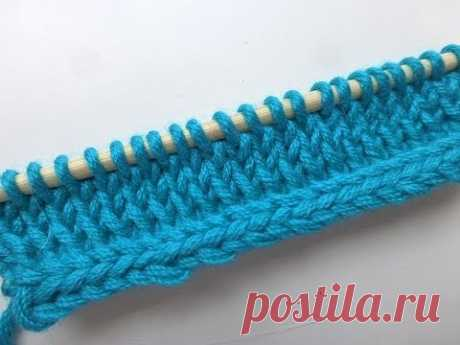 Knitting by spokes - skill Lessons spokes - Processing of edge of a product by i-cord method (a hollow cord). Video MK