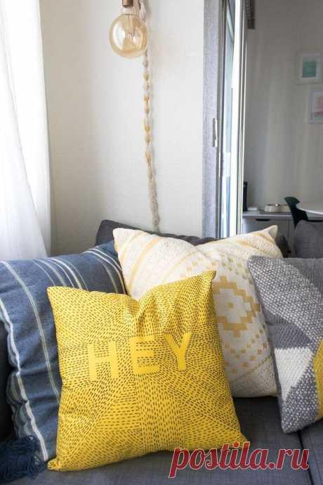 Как обновить диванную подушку, используя только маркер