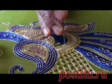Heavy Embroidery Blouse Design #035 - Peacock - YouTube