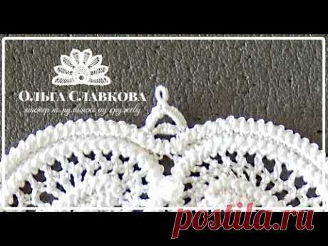Румынское (шнурковое) кружево. Бриды с петельным швом и пико. Технология