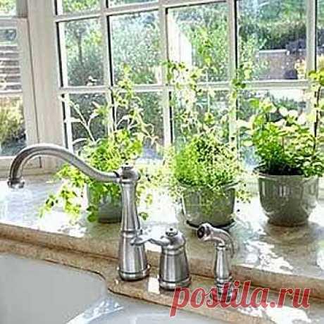 Окно на кухне и интересные идеи размещения кухонной мебели - Учимся Делать Все Сами
