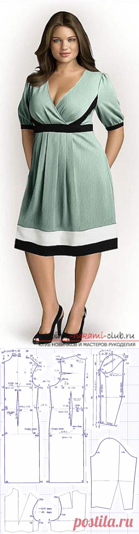 Простые и сложные выкройки платьев для полных - Подружки - медиаплатформа МирТесен