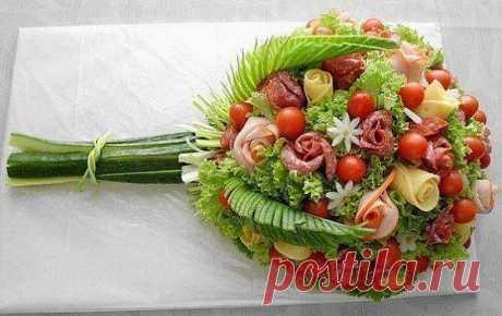 Букет из овощей.
