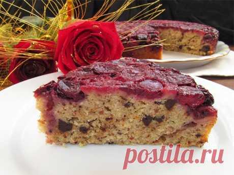 Постигая искусство кулинарии... : Пирог «Вишневый перевертыш»