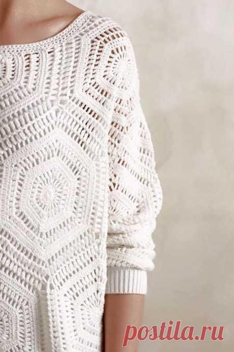 Мотив для стильного пуловера