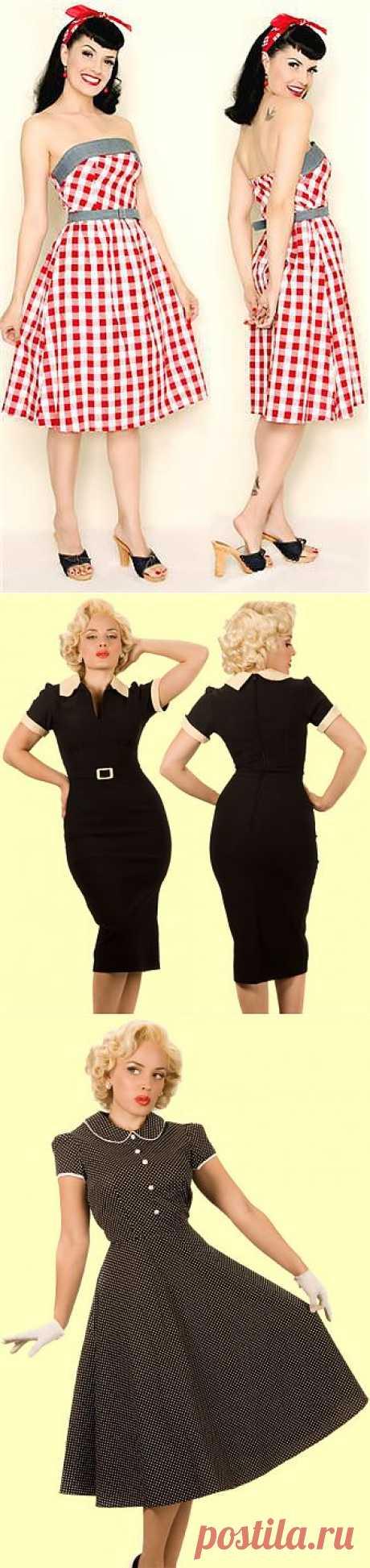 Платья в стиле ретро: 88 вариантов -