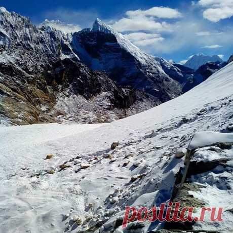 Гималаи. Подъём на перевал Чо-Ла 5420 м #гималаи,#чолапасс,#непал,#горы,#подъём.