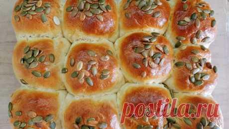 Сдобные булочки с тыквенными семечками - InVkus