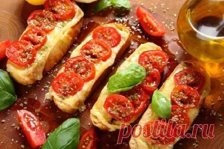 Горячие бутерброды с помидорами и сыром – пошаговый рецепт с фото.