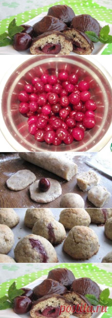 вкусное печенье с вишней