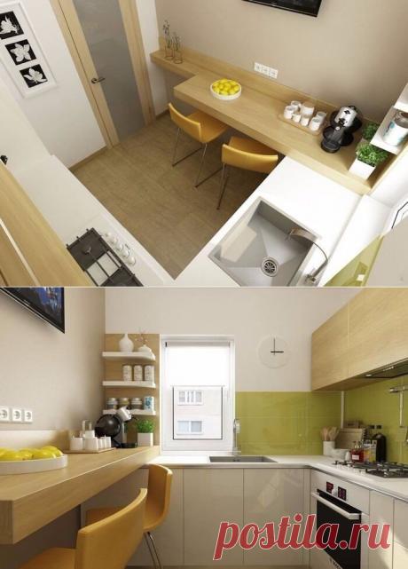 Оригинальный вариант дизайна кухни маленького размера