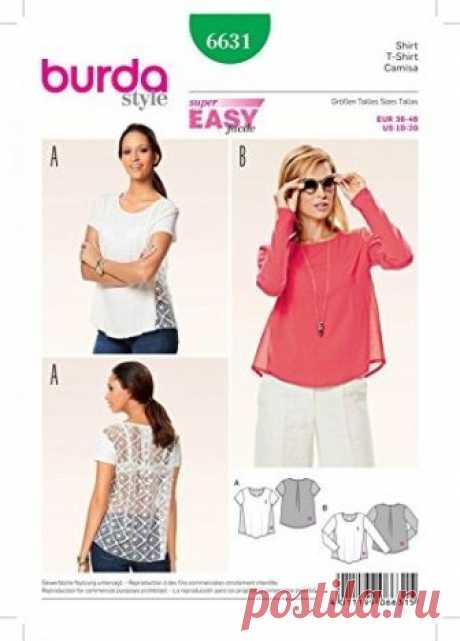 Запись на стене БлузаРазмеры 36-46 eurBurda 6631#выкройка #блуза