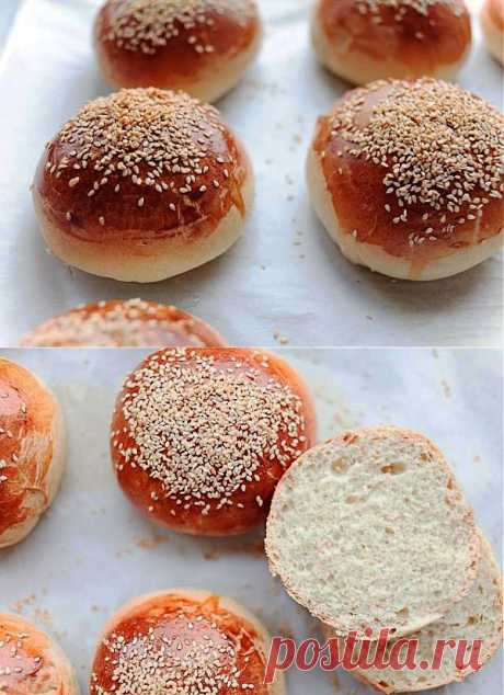 Hamburger buns - the recipe with a photo - Recipes with a photo
