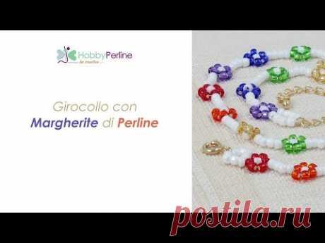 Come Realizzare un Girocollo con fiorellini di Perline | TUTORIAL - HobbyPerline.com