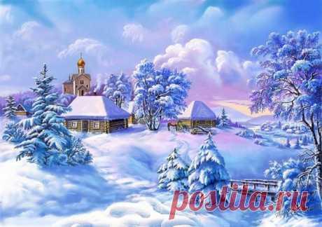 Схема вышивки «зима» - Вышивка крестом