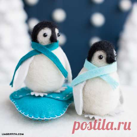 How to Make a Needle-Felted Penguin - Lia Griffith