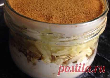 (48) Ленивая овсянка корица+яблоко,изюм - пошаговый рецепт с фото. Автор рецепта Ксения . - Cookpad