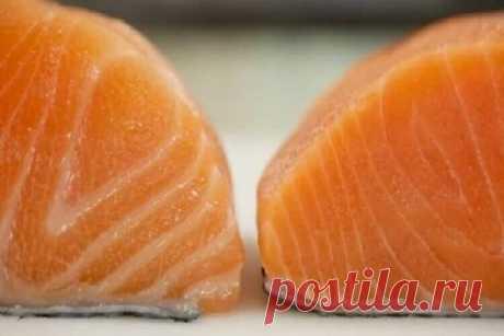 Вот 2 куска лосося. Какой бы выбрали вы? А вот как их выбирать правильно! – В РИТМІ ЖИТТЯ