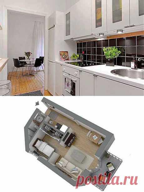 Маленькая узкая кухня: необычная планировка небольшой квартиры