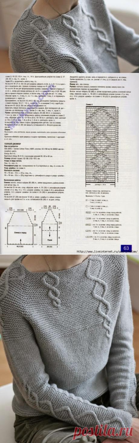 Мир хобби: Три пуловера (вязание спицами)