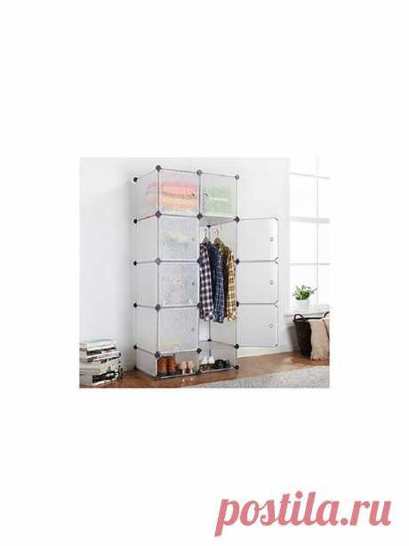 (348) Такой интересный в плане внешнего дизайна, а также вместительный и удобный в эксплуатации шкаф, собранный из одинаковых по размеру кубических блоков