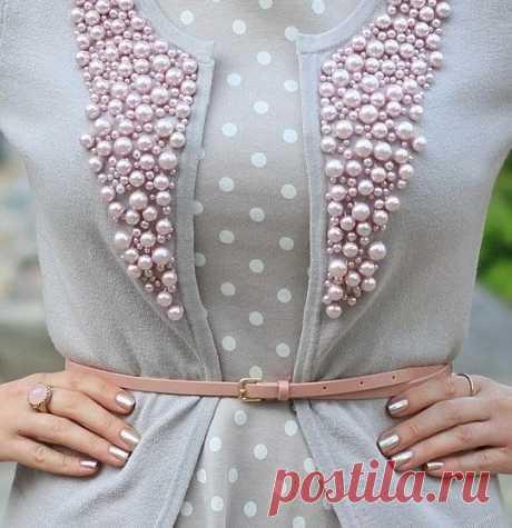 Декор одежды бусинами, бисером и стразами: 33 идеи — Мастер-классы на BurdaStyle.ru
