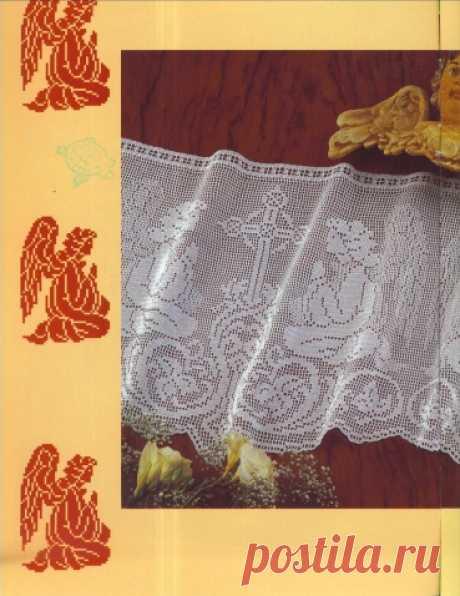 Филейное вязание к Пасхе. | Женская одежда крючком. Схемы и описание