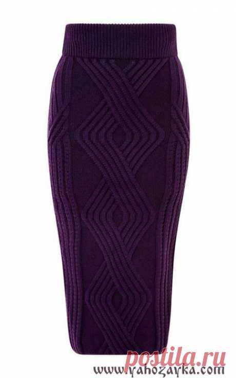 Юбка из аранов спицами. Схема прямой юбки спицами Юбка из аранов спицами. Схема прямой юбки спицами