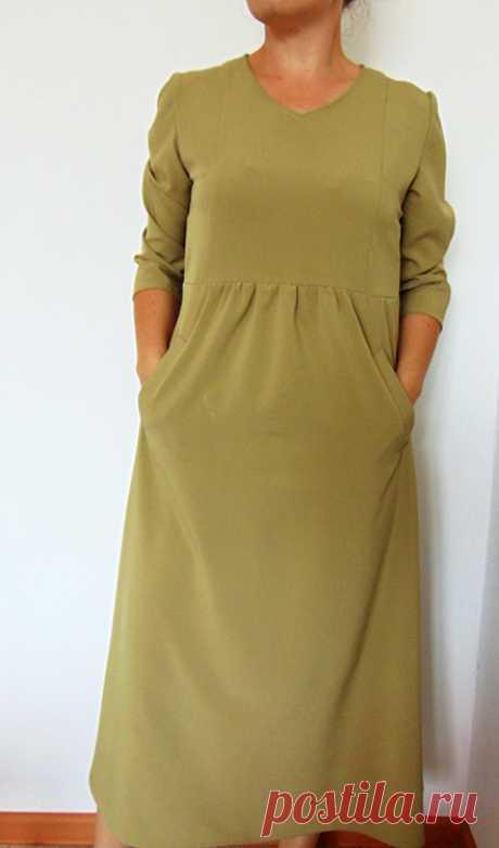 Платье с завышенной талией . Выкройка и пошив